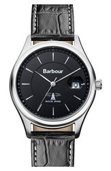 Men's Barbour 'Heritage' Leather Strap Watch 40Mm