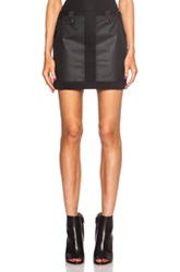 Alexander Wang Cotton Cargo Mini Skirt In Black