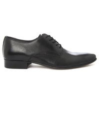 Menlook Label Fir Black Derby Shoes