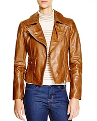Karen Millen Leather Biker Jacket Bloomingdale's Exclusive Tan