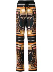 Givenchy Butterfly Trousers Silk Wool L Black