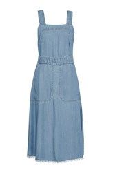 Great Plains Washed Wendy Pinafore Dress Blue