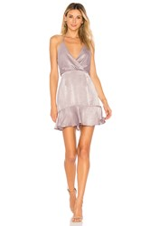 Donna Mizani Avery Mini Dress Purple