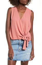 Lush 'S Wrap Tank Coral Solid
