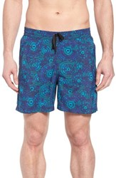 Danward Print Swim Trunks Navy