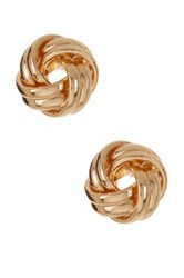 14Th And Union Knot Stud Earrings Metallic