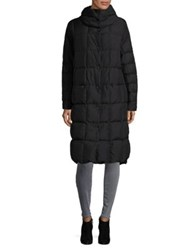 Trina By Trina Turk Plaid Stitch A Line Coat Black