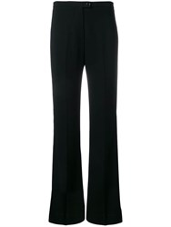 Aspesi High Rise Flared Trousers Black