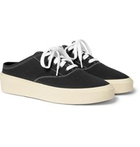 Fear Of God 101 Canvas Backless Slip On Sneakers Black