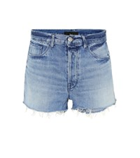 3X1 W4 Carter Denim Shorts Blue