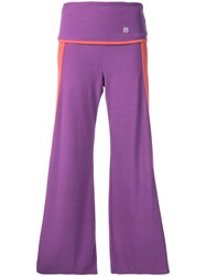 Theatre Products Wide Leg Cropped Trousers Women Acrylic Polyurethane Rayon One Size Pink Purple