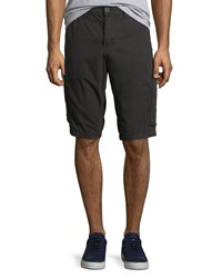 True Religion Officer Field Cargo Shorts Black