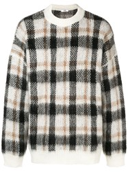 Cmmn Swdn Plaid Knitted Sweater Brown