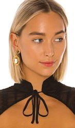 Jennifer Behr Fiorella Earring In Metallic Gold. Coral