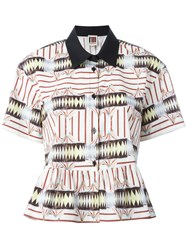 I'm Isola Marras Multi Print Ruffled Shirt