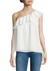 French Connection Crepe Light One Shoulder Top Summer White