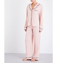 Wildfox Couture From Me To You Jersey Pyjama Set Dusty Rose