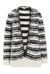 Iro Oversize Cardigan With Alpaca Stripes