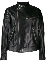 Tom Ford Leather Biker Jacket Black