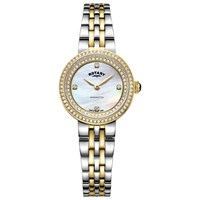 Rotary 'S Kensington Crystal Bracelet Strap Watch Silver Gold Lb05371 41
