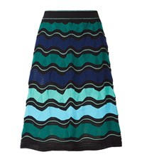 M Missoni Wide Wave Skirt Female Blue