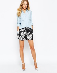 Whistles Pampus Print High Waisted Shorts Pampusprint