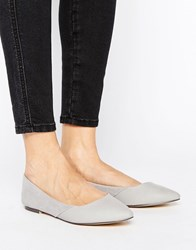 Oasis Point Ballet Pump Grey