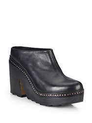 Rag And Bone Esme Studded Leather Platform Clogs Black