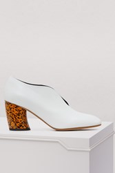 Proenza Schouler Graphic Heel Ankle Boots White