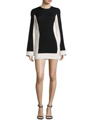 Misha Collection Joy Colorblock Mini Dress Black Ivory