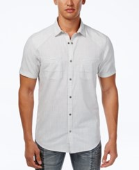 Inc International Concepts Men's Dual Pocket Snap Front Shirt Only At Macy's White