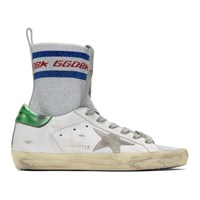 Golden Goose White Superstar Sock High Top Sneakers