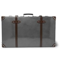 Globe Trotter 33 Leather Trimmed Trolley Case Gray