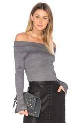 Michael Stars Exposed Shoulder Tee Gray