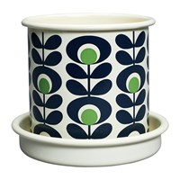 Orla Kiely Small Oval Flower Plant Pot Apple