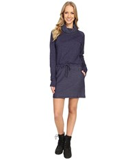 Mountain Hardwear Shadow Knit Long Sleeve Dress Indigo Blue Women's Dress