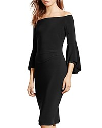 Ralph Lauren Off The Shoulder Dress Black