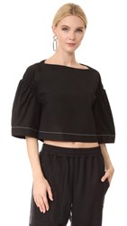 3.1 Phillip Lim Wide Sleeve Ruched Top Black