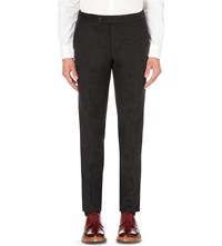 Tomorrowland Double Faced Wool Trousers Charcoal