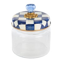 Mackenzie Childs Royal Check Kitchen Canister Blue
