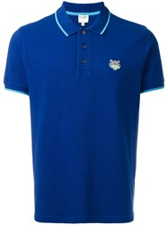Kenzo Mini Tiger Polo Shirt Blue