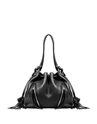 Linea Pelle Ryan Leather Bucket Bag Black