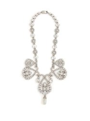Miu Miu Crystal And Faux Pearl Necklace Crystal