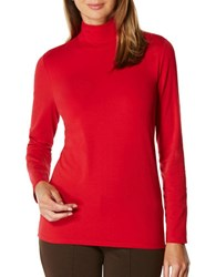 Rafaella Petite Claret Turtleneck Top Ruby