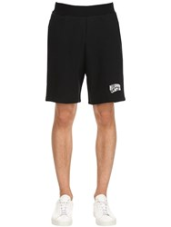 Bbc Billionaire Boys Club Logo Detail Cotton Sweat Shorts Black