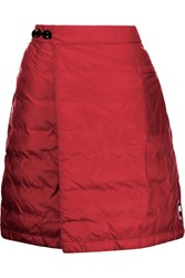 Canada Goose Camp Wrap Effect Quilted Shell Down Mini Skirt Red