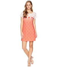 Hatley Chloe Dress Coral Compass Roses Orange