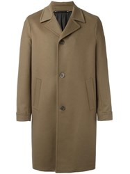 Paul Smith Single Breasted Coat Brown