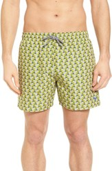 Ted Baker London Loxham Fish Geo Print Swim Short Lime
