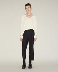 R 13 Cropped Wool Dress Pant Black